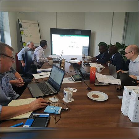 Team-Meeting at Perceptum Limited Office UK